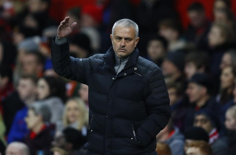 Britain Soccer Football - Manchester United v Hull City - Premier League - Old Trafford - 1/2/17 Manchester United manager Jose Mourinho  Action Images via Reuters / Jason Cairnduff Livepic