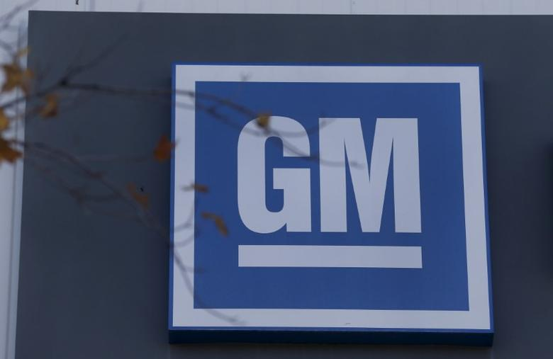 The GM logo is seen at the General Motors Lansing Grand River Assembly Plant in Lansing, Michigan October 26, 2015. Photo taken October 26.   REUTERS/Rebecca Cook - RTX1TGK9