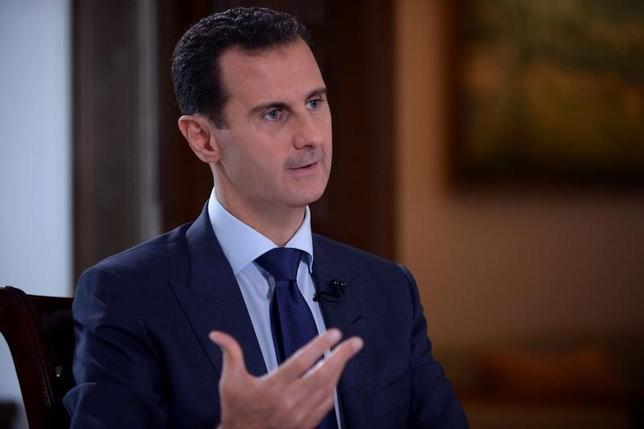Syria's President Bashar al-Assad speaks during an interview with NBC News in this handout picture provided by SANA on July 14, 2016. SANA/Handout via REUTERS