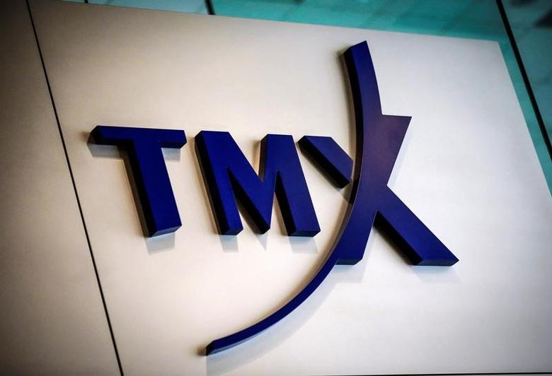 A TMX Group sign, the company that runs the Toronto Stock Exchange (TSX), is seen in Toronto, June 23, 2014.  REUTERS/Mark Blinch/File Photo