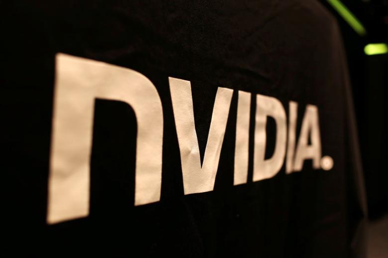 The logo of technology company Nvidia is seen at its headquarters in Santa Clara, California February 11, 2015.  REUTERS/Robert Galbraith/File Photo