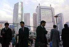 L'économie japonaise a enregistré une croissance de 1% en rythme annualisé d'octobre à décembre, signant ainsi un quatrième trimestre consécutif d'expansion, dopée par des exportations solides et une hausse des dépenses d'investissement. /Photo d'archives/REUTERS/Issei Kato