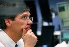 Un trader a lavoro. REUTERS/Ralph Orlowski