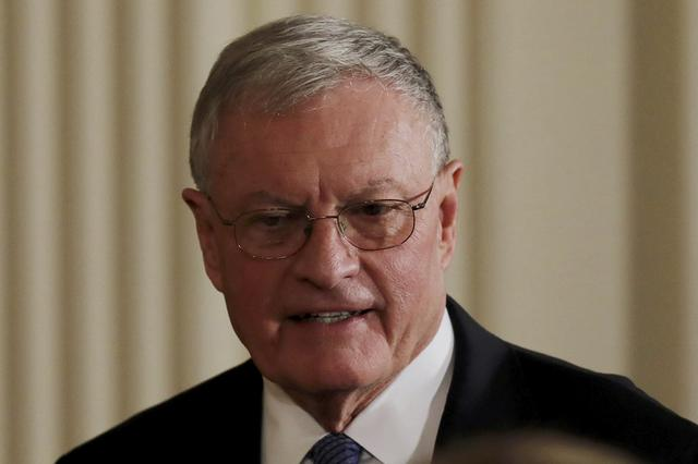 Acting U.S. National Security Advisor Retired General Keith Kellogg arrives for a joint news conference between U.S. President Donald Trump and Israeli Prime Minister Benjamin Netanyahu at the White House in Washington, U.S., February 15, 2017.  REUTERS/Carlos Barria