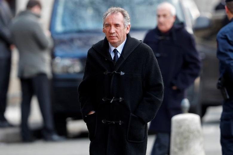 Francois Bayrou, French politician and mayor of Pau, arrives to attend the funeral of former CFDT labour union leader Francois Chereque in Paris, France, January 5, 2017. REUTERS/Charles Platiau/Files