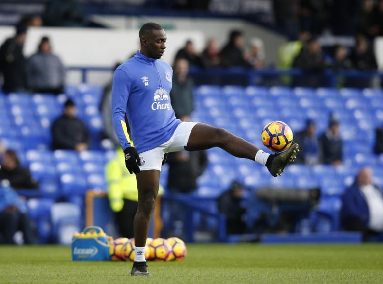 Britain Football Soccer - Everton v Swansea City - Premier League - Goodison Park - 19/11/16 Everton's Yannick Bolasie during the warm up before the match Reuters / Andrew Yates Livepic