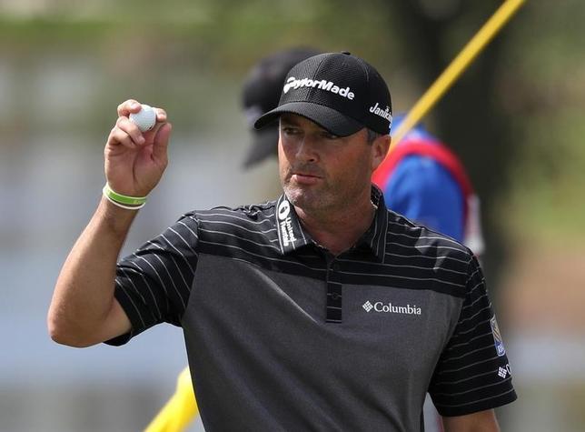 2月24日、米男子ゴルフのホンダ・クラシック第2ラウンド、ライアン・パーマー(写真)とウェズリー・ブライアンが通算9アンダーで首位に並んだ(2017年 ロイター/Jason Getz-USA TODAY Sports)