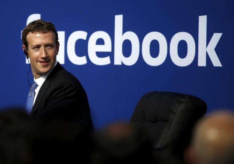 Facebook CEO Mark Zuckerberg  in Menlo Park, California September 27, 2015. REUTERS/Stephen Lam/File Photo