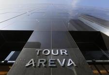 Areva a annoncé mercredi une réduction de sa perte en 2016 et a précisé le calendrier de ses augmentations de capital, prévues pour juin, à l'issue desquelles le groupe finalisera la refonte de son périmètre. /Photo d'archives/REUTERS/Jacky Naegelen