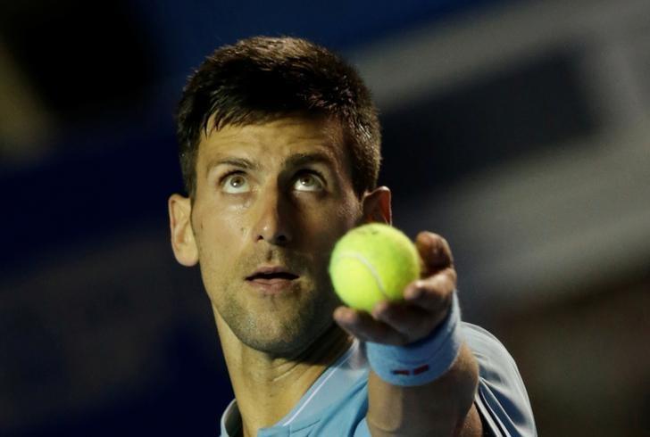 Tennis - Mexican Open - Men's Singles - First Round - Acapulco, Mexico- 28/2/17. Serbia's Novak Djokovic in action against Slovakia's Martin Klizan. REUTERS/Henry Romero