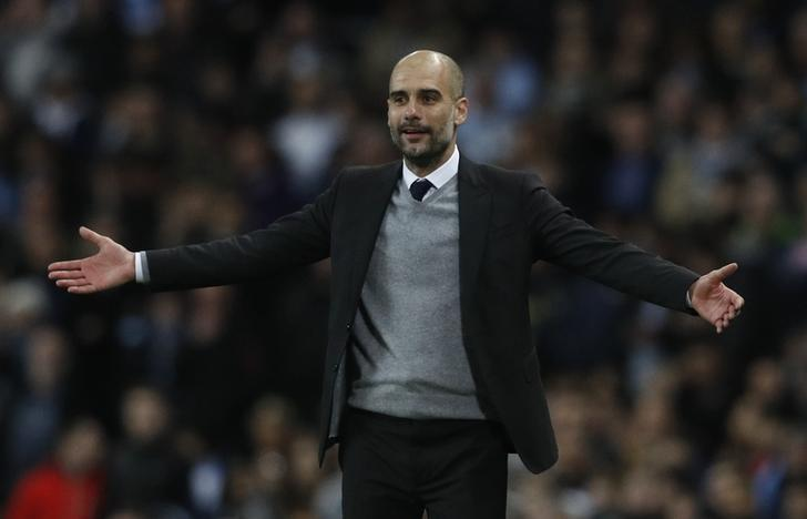 Britain Football Soccer - Manchester City v AS Monaco - UEFA Champions League Round of 16 First Leg - Etihad Stadium, Manchester, England - 21/2/17 Manchester City manager Pep Guardiola  Reuters / Phil Noble Livepic/Files