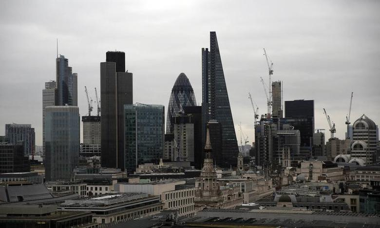 A view of the London skyline shows the City of London financial district, seen from St Paul's Cathedral in London, Britain February 25, 2017. REUTERS/Neil Hall