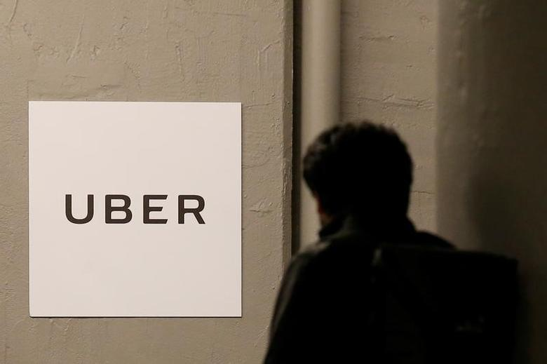 A man arrives at the Uber offices in Queens, New York, U.S., February 2, 2017.  REUTERS/Brendan McDermid