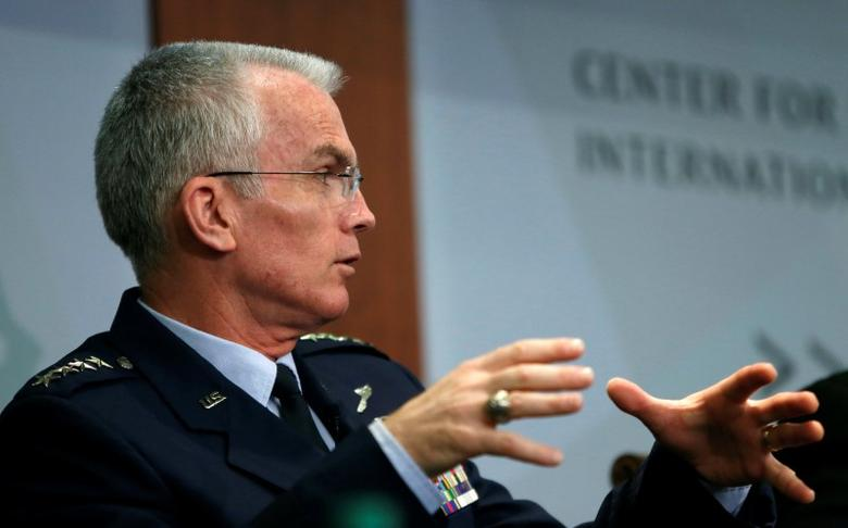 Vice Chairman of the Joint Chiefs of Staff U.S. Air Force General Paul Selva speaks at the Center for Strategic and International Studies in Washington, U.S., October 28, 2016. REUTERS/Gary Cameron