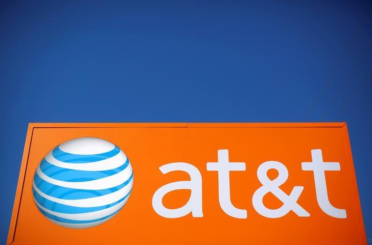 An AT&T sign is seen outside a branch in Rolling Meadows, Illinois, U.S., October 24, 2016.    REUTERS/Jim Young/File Photo