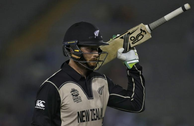 New Zealand v Pakistan - World Twenty20 cricket tournament - Mohali, India, 22/03/2016. New Zealand's Martin Guptill walks off the field after his dismissal. REUTERS/Adnan Abidi/Action Images