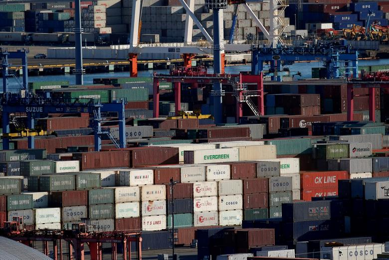 Containers are seen at an industrial port in Yokohama, Japan, January 16, 2017. REUTERS/Kim Kyung-Hoon/File Photo