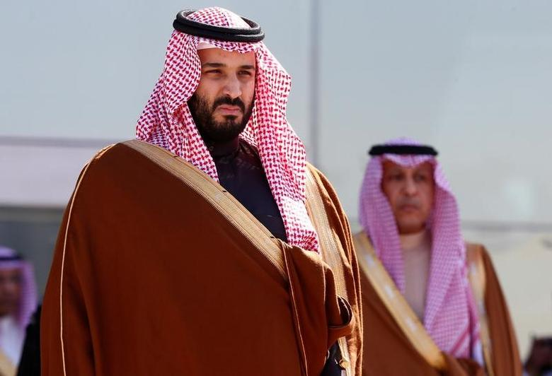 Saudi Deputy Crown Prince Mohammed bin Salman attends a graduation ceremony and air show marking the 50th anniversary of the founding of King Faisal Air College in Riyadh, Saudi Arabia, January 25, 2017. REUTERS/Faisal Al Nasser