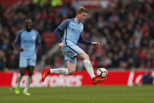 Britain Football Soccer - Middlesbrough v Manchester City - FA Cup Quarter Final - The Riverside Stadium - 11/3/17 Manchester City's Kevin De Bruyne Action Images via Reuters / Lee Smith Livepic