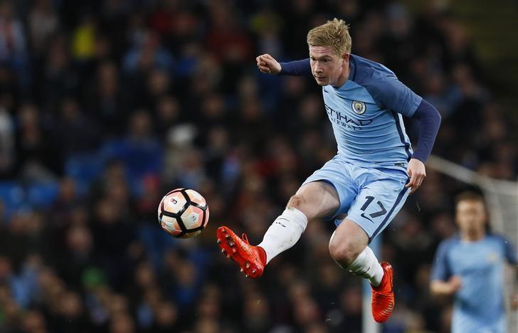 Britain Football Soccer - Manchester City v Huddersfield Town - FA Cup Fifth Round Replay - Etihad Stadium - 1/3/17 Manchester City's Kevin De Bruyne in action Action Images via Reuters / Jason Cairnduff