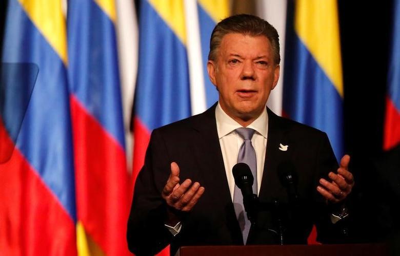 Colombia's President Juan Manuel Santos  in Bogota, Colombia November 24, 2016.  REUTERS/Jaime Saldarriaga
