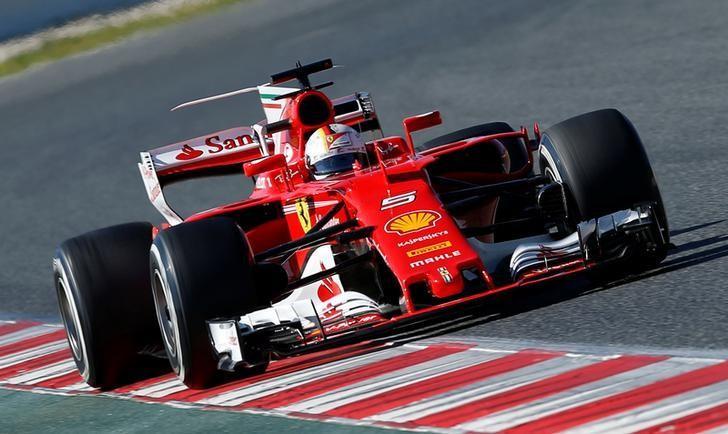 Formula One - F1 - Test session - Barcelona-Catalunya racetrack in Montmelo, Spain - 1/3/17. Ferrari's Sebastian Vettel in action. REUTERS/Albert Gea/Files