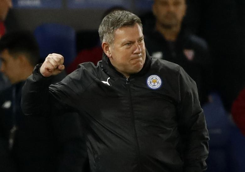 Britain Soccer Football - Leicester City v Sevilla - UEFA Champions League Round of 16 Second Leg - King Power Stadium, Leicester, England - 14/3/17 Leicester City manager Craig Shakespeare celebrates after the game  Action Images via Reuters / Carl Recine Livepic/files