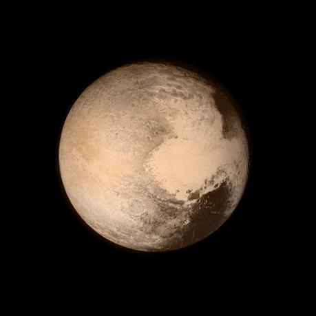 FILE PHOTO - Pluto nearly fills the frame in this image from the Long Range Reconnaissance Imager (LORRI) aboard NASA's New Horizons spacecraft, taken on July 13, 2015 when the spacecraft was 476,000 miles (768,000 kilometers) from the surface.  Courtesy NASA/Handout via REUTERS