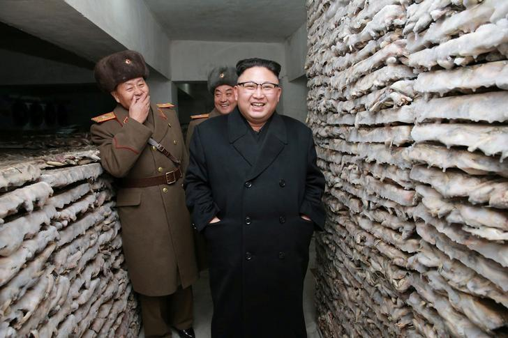 FILE PHOTO - North Korean leader Kim Jong Un is pictured at the Headquarters of Large Combined Unit 966 of the Korean People's Army (KPA) in this undated photo released by North Korea's Korean Central News Agency (KCNA) in Pyongyang on March 1, 2017. KCNA/via REUTERS/File Photo