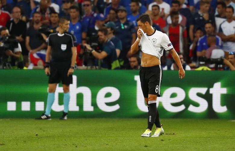 Football Soccer - Germany v France - EURO 2016 - Semi Final - Stade Velodrome, Marseille, France - 7/7/16Germany's Mesut Ozil REUTERS/Kai PfaffenbachLivepic