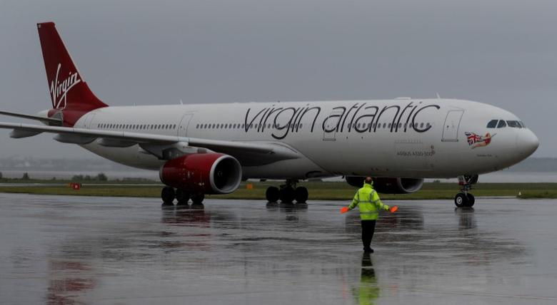 File photo: A Virgin Atlantic plane arrives at Liverpool John Lennon Airport in Liverpool northern England, May 19 , 2016. REUTERS/Phil Noble