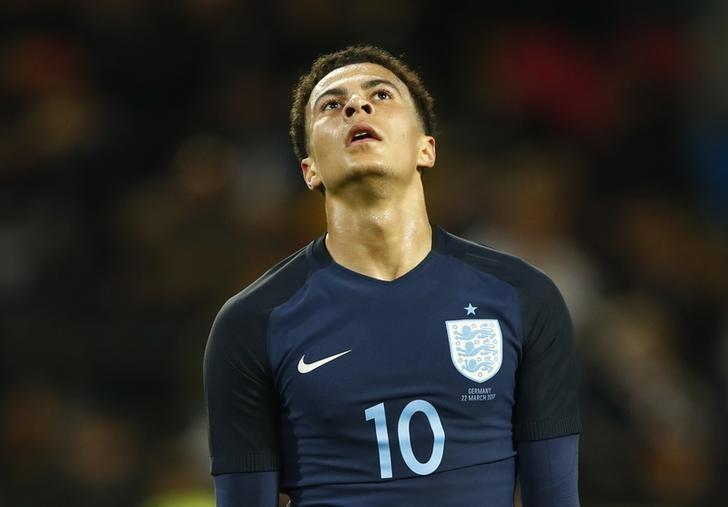 Football Soccer - Germany v England - International Friendly - Signal-Iduna-Park, Dortmund, Germany - 22/3/17 England's Dele Alli looks dejected after a missed chance  Reuters / Wolfgang Rattay Livepic