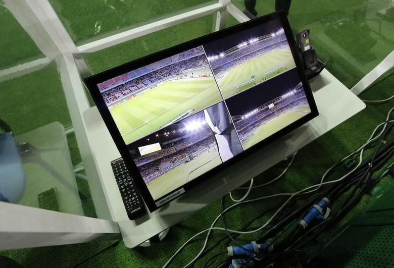 FILE PHOTO: Soccer Football - Club America v Real Madrid - FIFA Club World Cup Semi Final - International Stadium Yokohama - 15/12/16 General view of a part of the video refereeing system before the match  Reuters / Kim Kyung-Hoon