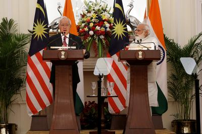 Malaysian prime minister in India