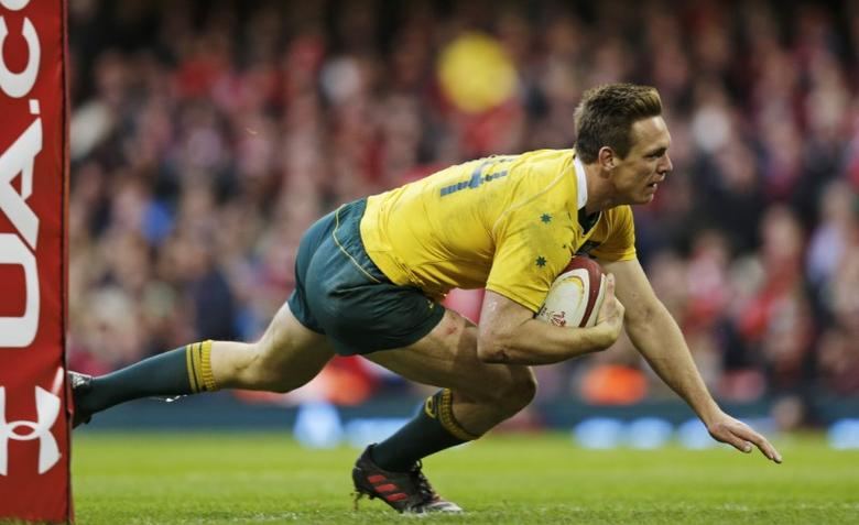 FILE PHOTO: Britain Rugby Union - Wales v Australia - Principality Stadium, Cardiff, Wales  - 5/11/16 Australia's Dane Haylett-Petty scores a try Action Images via Reuters / Henry Browne Livepic