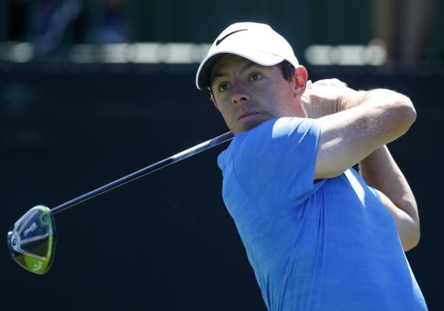 4月3日、男子ゴルフの世界ランク2位、ロリー・マキロイは、米スポーツ用品大手ナイキとのスポンサー契約を延長した。米フロリダ州オーランドで3月撮影(2017年 ロイター/Reinhold Matay-USA TODAY Sports)