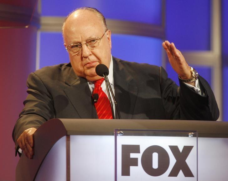 Roger Ailes, chairman and CEO of Fox News and Fox Television Stations, answers questions during a panel discussion at the Television Critics Association summer press tour in Pasadena, California July 24, 2006. REUTERS/Fred Prouser