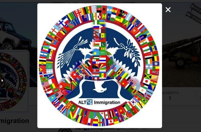4月6日、ツイッターは、トランプ政権の移民政策への批判を投稿している匿名のアカウント(写真はスクリーンショット)について、ユーザーの情報を提供するよう求めた政府の要請を拒否し、国土安全保障省をサンフランシスコの連邦裁判所に提訴した(2017年 ロイター)