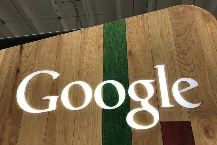 FILE PHOTO: A Google logo is seen in a store in Los Angeles, California, U.S., March 24, 2017. REUTERS/Lucy Nicholson/File Photo