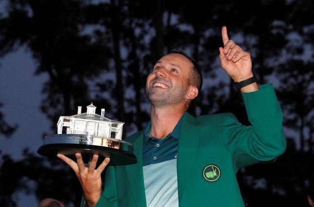 4月10日、男子ゴルフの今季メジャー第1戦、マスターズ・トーナメントではセルヒオ・ガルシア(写真)が優勝。しかしメジャー第2戦、全米オープンの本命とはみられていない。米ジョージア州オーガスタで9日撮影(2017年 ロイター/Mike Segar)