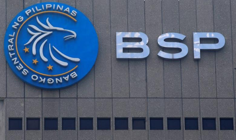 A logo of Bangko Sentral ng Pilipinas (Central Bank of the Philippines) is seen at their main building in Manila, Philippines March 23, 2016. REUTERS/Romeo Ranoco/File Photo