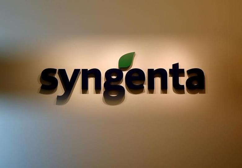 A Syngenta logo is pictured in their office in Singapore, February 12, 2016.  REUTERS/Edgar Su/File Photo
