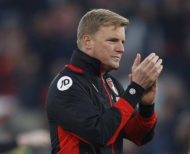 AFC Bournemouth v Chelsea - Premier League - Vitality Stadium - 8/4/17 Bournemouth manager Eddie Howe applauds fans after the match  Reuters / Peter Nicholls Livepic