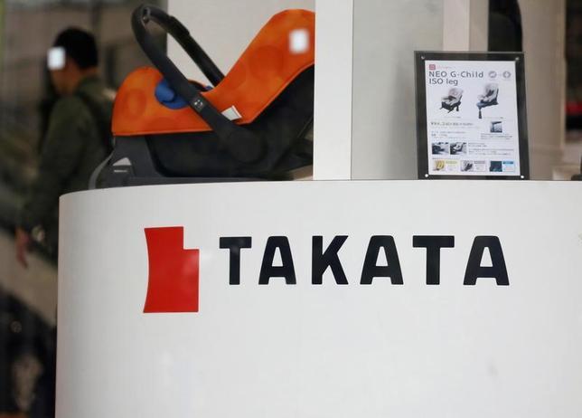4月15日、エアバッグの大量リコール問題を抱えるタカタの再建計画の策定が5月中にずれ込む見通しだ。東京にある同社のショールームで9日撮影(2017年 ロイターS/Toru Hanai)