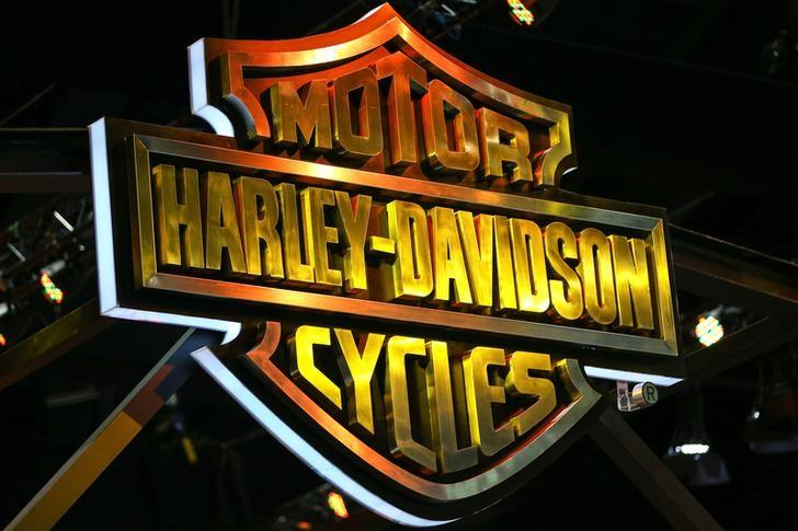 The logo of Harley-Davidson is pictured at the 38th Bangkok International Motor Show in Bangkok, Thailand March 28, 2017. REUTERS/Athit Perawongmetha/Files