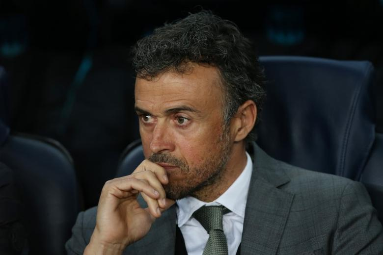 Football Soccer - FC Barcelona v Juventus - UEFA Champions League Quarter Final Second Leg - The Nou Camp, Barcelona, Spain - 19/4/17 Barcelona coach Luis Enrique  Reuters / Albert Gea Livepic