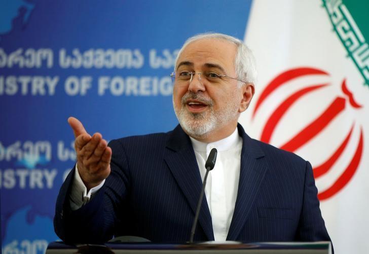 Iranian Foreign Minister Mohammad Javad Zarif speaks to the media in Tbilisi, Georgia, April 18, 2017. REUTERS/David Mdzinarishvili