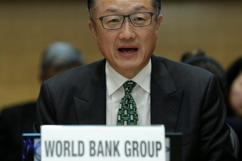 World President Jim Yong Kim participates in a discussion ''Investing in the Early Years: Identifying Synergies and Catalyzing Action'' at the World Bank headquarters in Washington, U.S., April 19, 2017. REUTERS/Yuri Gripas