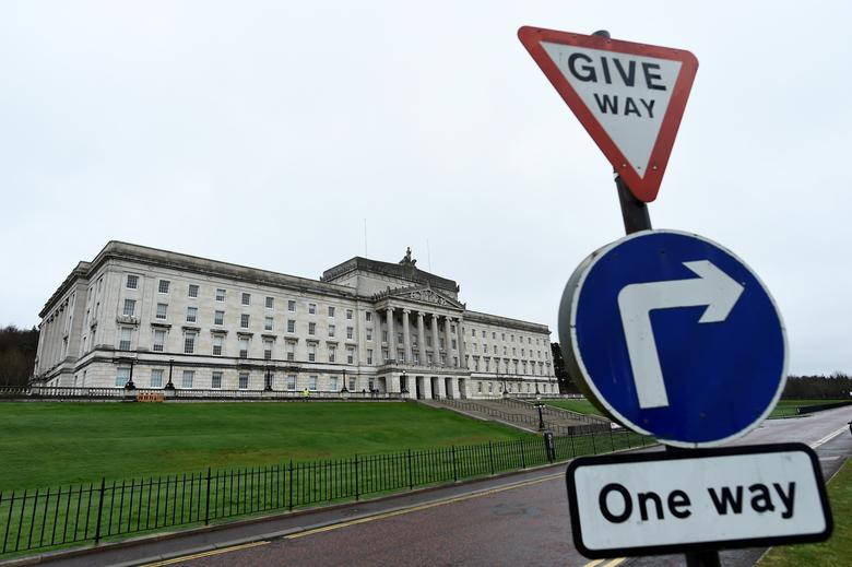 FILE PHOTO: A general view of Parliament Buildings at Stormont in Belfast, Northern Ireland March 7, 2017. REUTERS/Clodagh Kilcoyne/File Photo