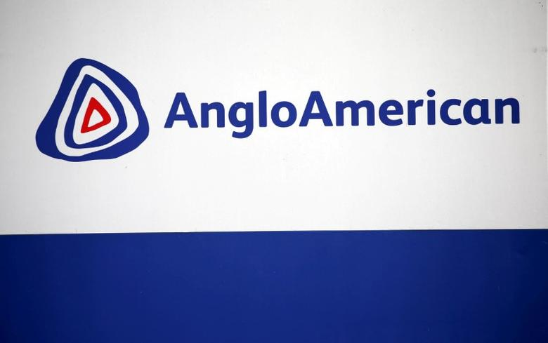 FILE PHOTO: The AngloAmerican logo is seen in Rusternburg, South Africa, October 5, 2015. REUTERS/Siphiwe Sibeko/File Photo